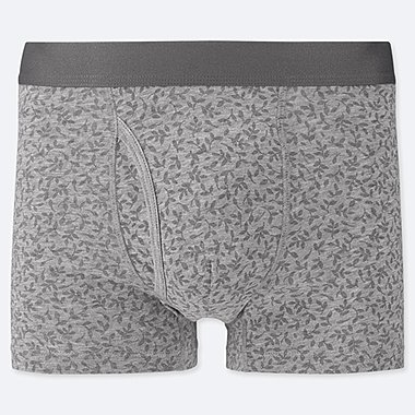 MEN SUPIMA® COTTON BOXER BRIEFS, LIGHT GRAY, medium