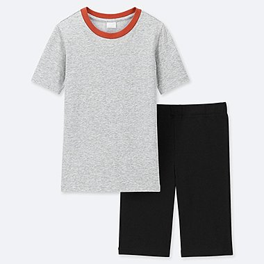 BOYS DRY STRETCH SHORT-SLEEVE SET, LIGHT GRAY, medium