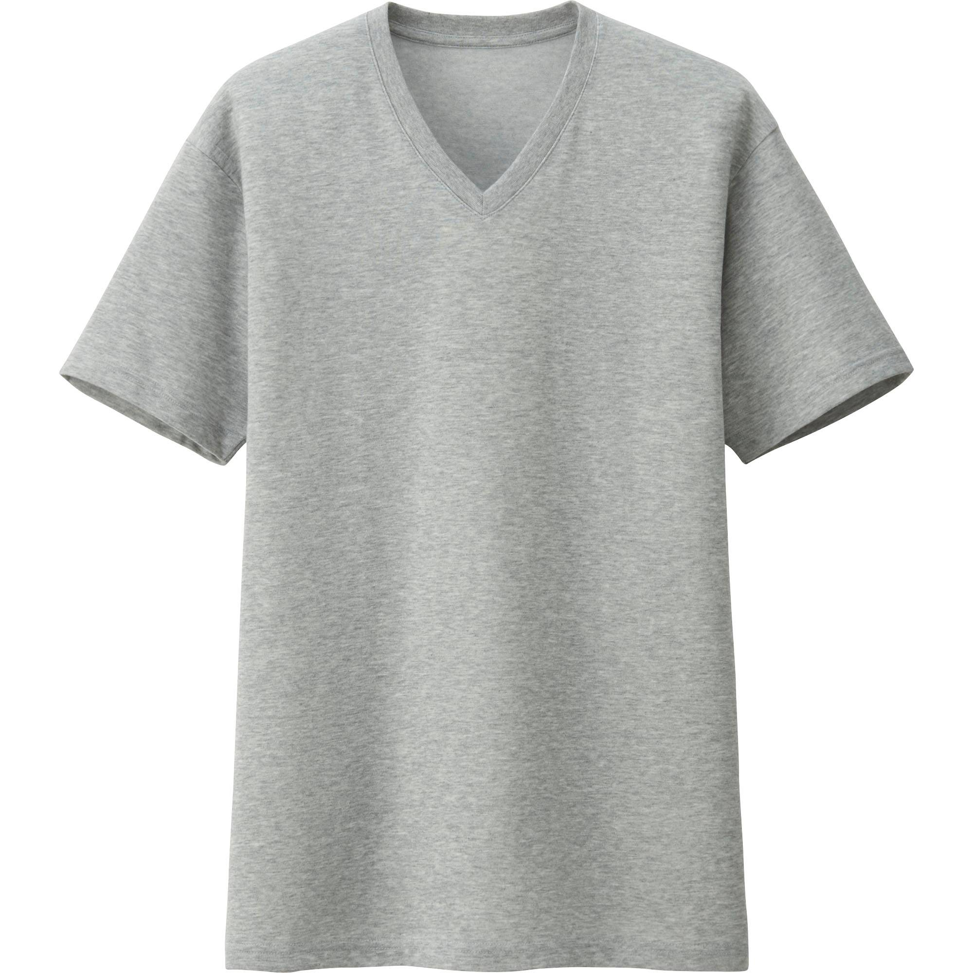 Black t shirts v neck - Men Packaged Dry V Neck Short Sleeve T Shirt Gray Large