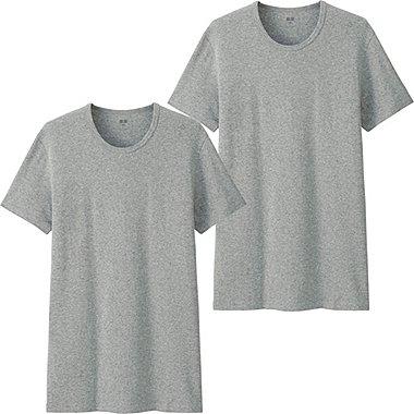 Men Supima® Cotton T-Shirts, 2 Pack, GRAY, medium