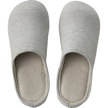 Knit Slippers, GRAY, medium