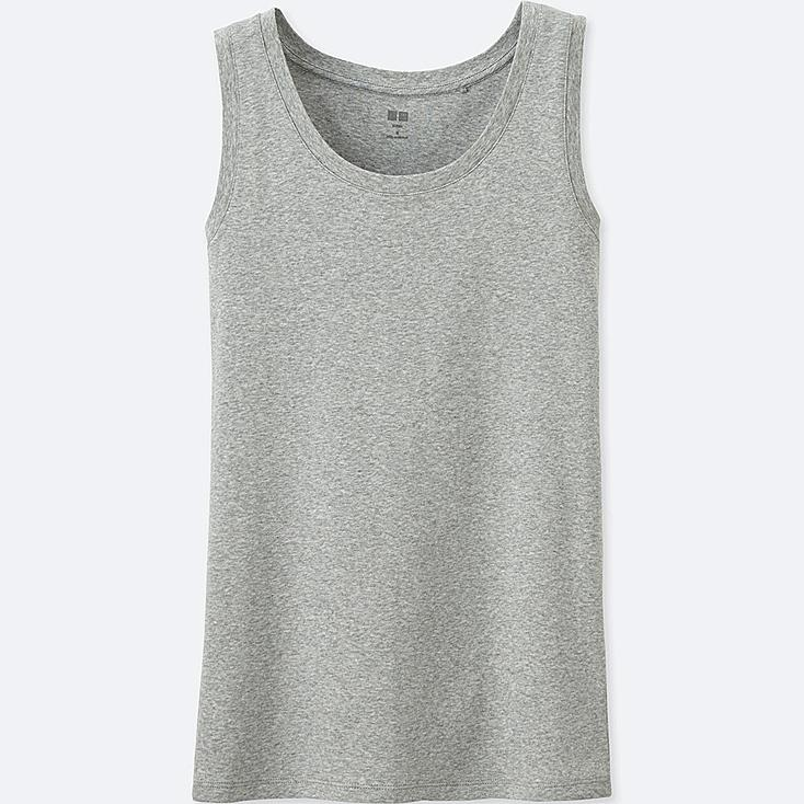 Women's Supima® Cotton Tank Top, GRAY, large