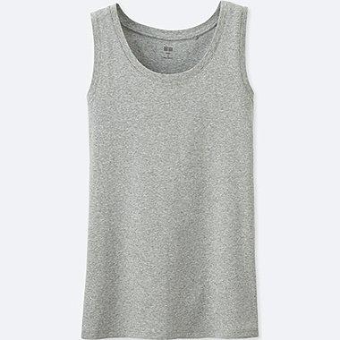 Womens Supima® Cotton Tank Top, GRAY, medium