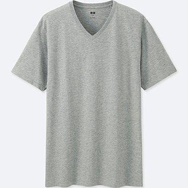 Men Supima® Cotton V-Neck T-Shirt, GRAY, medium