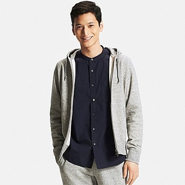 Mens Zip-Up Hoodie, GRAY, medium