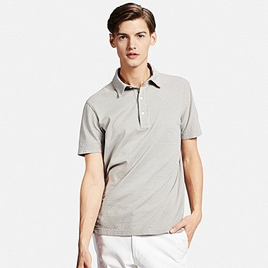 MENS WASHED PIQUE POLO SHIRT, GRAY, medium