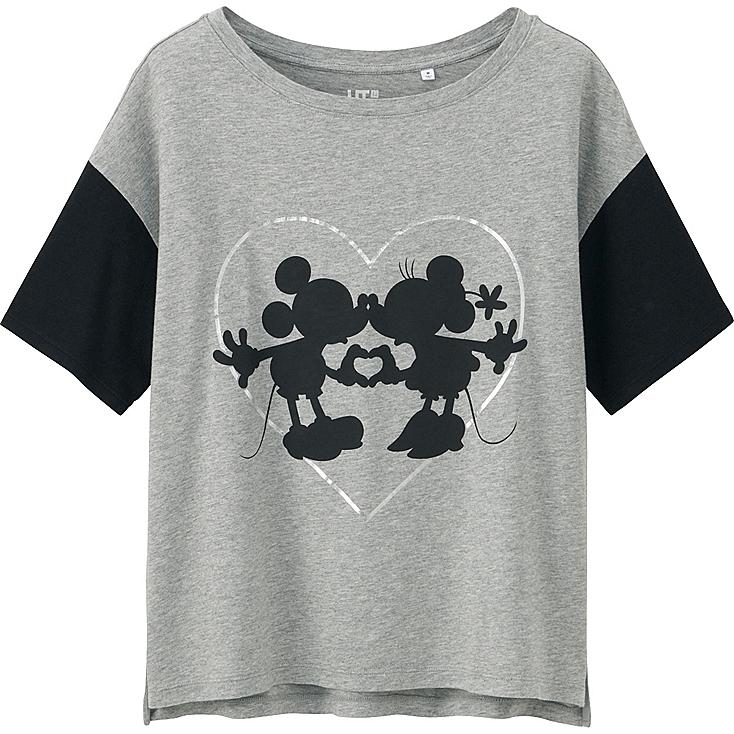 Women Disney Project Graphic T-Shirt, GRAY, large
