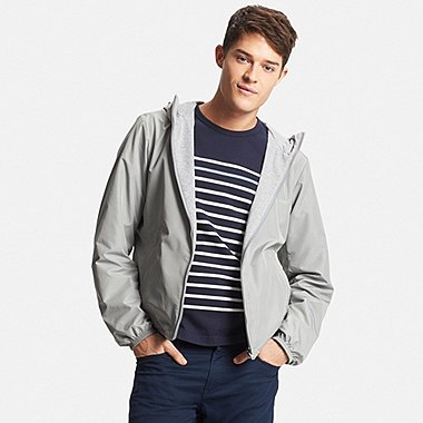 Men Reversible Hooded Jacket, GRAY, medium