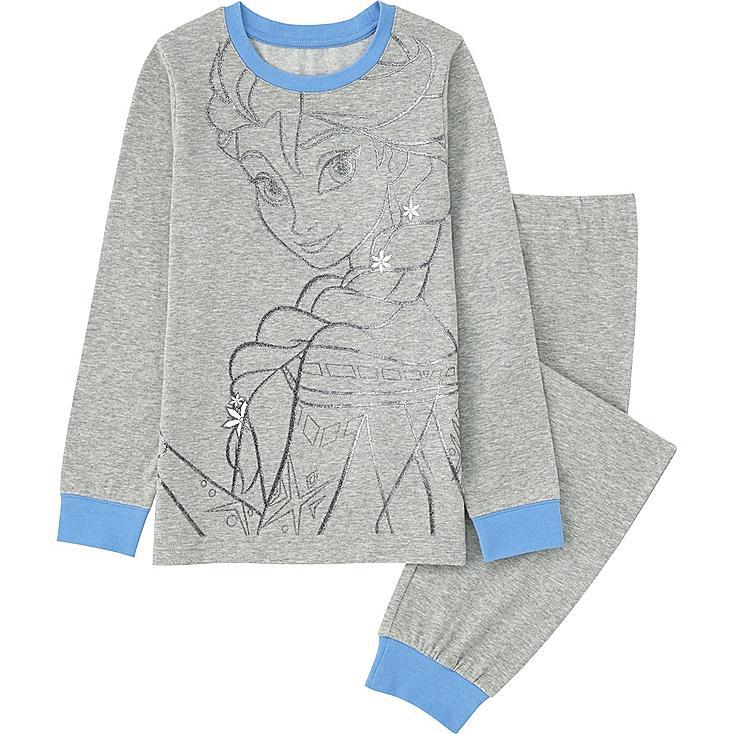 Girls Disney Project Long Sleeve Pajamas, GRAY, large