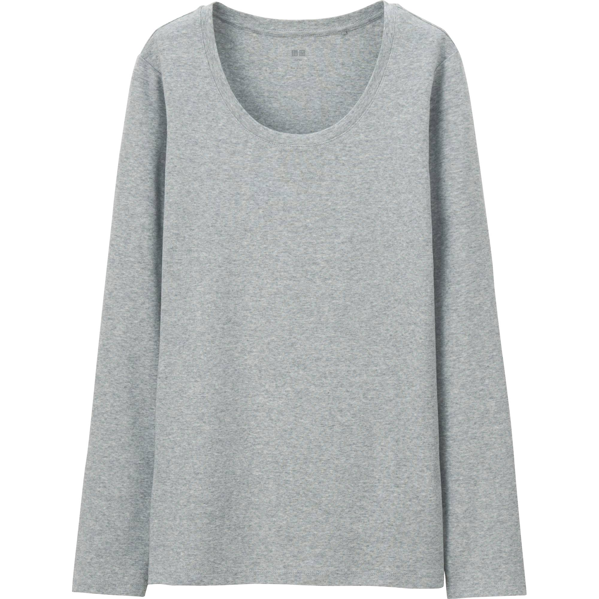 e35dd7c7d0c672 Images. Women Supima® Cotton Crewneck Long Sleeve T-Shirt ...