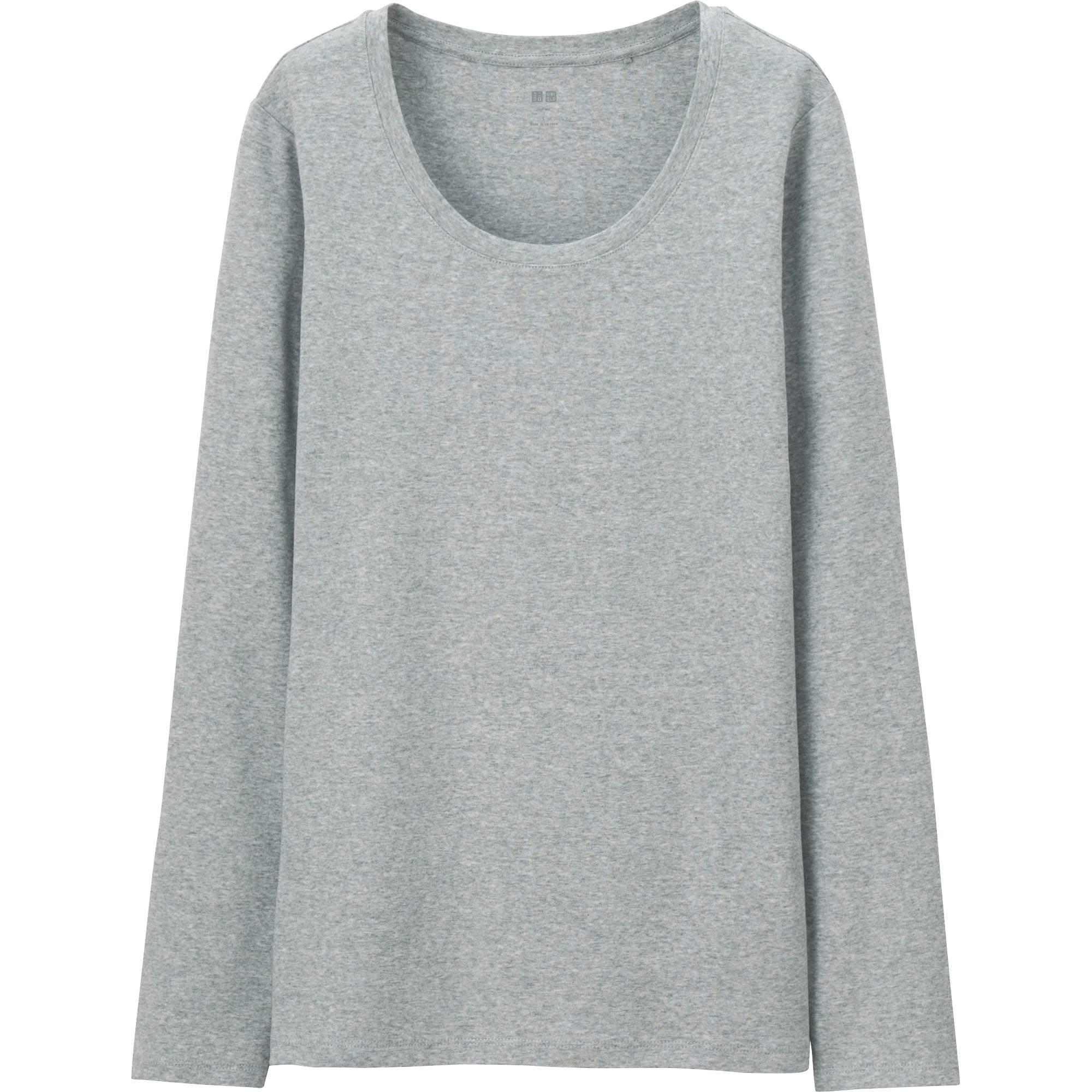 Women Supima® Cotton Crewneck Long Sleeve T-Shirt | UNIQLO US