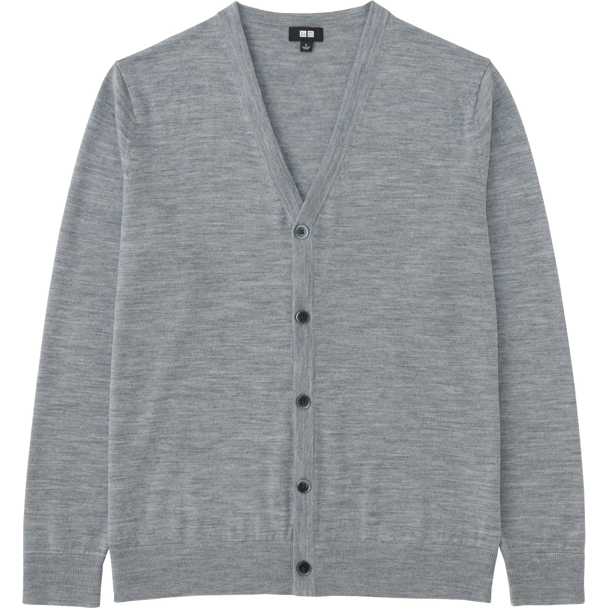 MEN EXTRA FINE MERINO V-NECK CARDIGAN | UNIQLO US