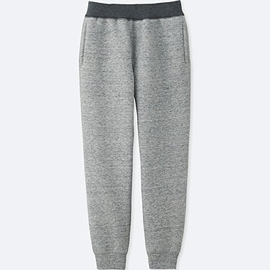KIDS PILE-LINED SWEATPANTS, GRAY, medium