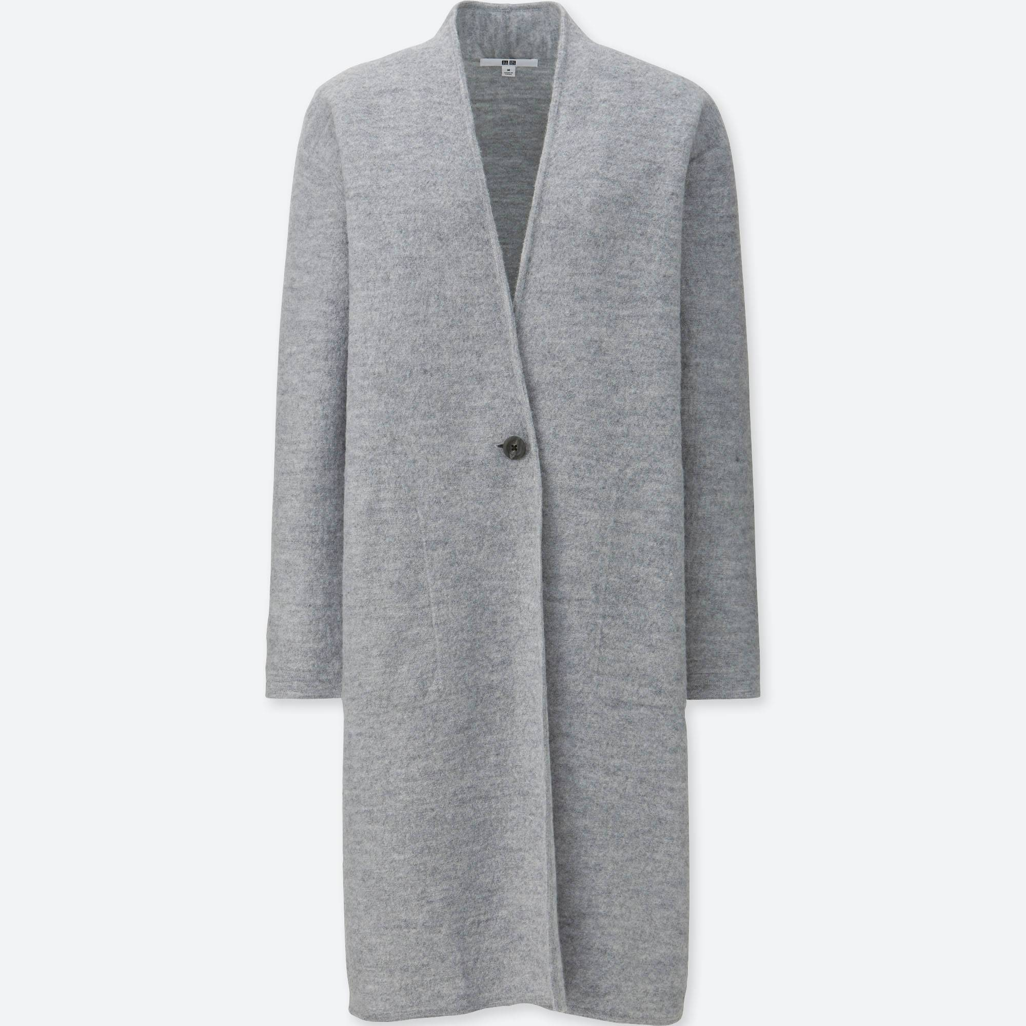 WOMEN FELTED WOOL LONG COAT | UNIQLO US
