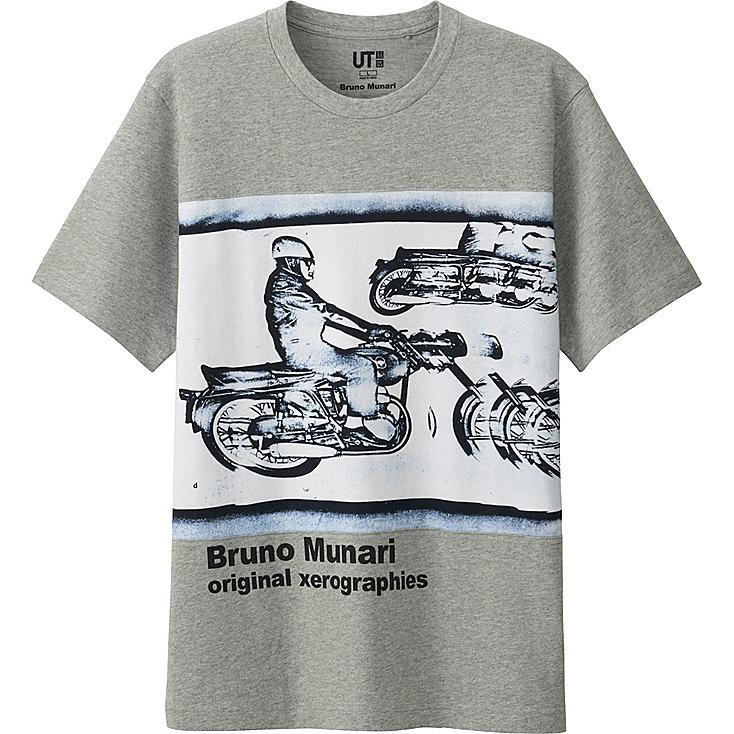 Men's Bruno Munari Graphic Tee, GRAY, large