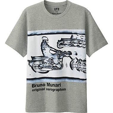 Mens Bruno Munari Graphic Tee, GRAY, medium