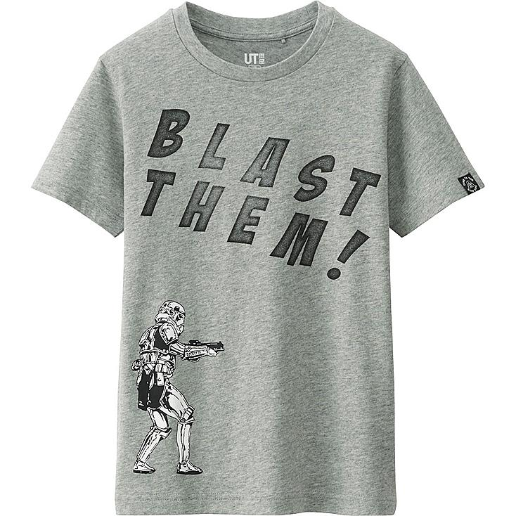 Boys Star Wars Graphic Tee, GRAY, large