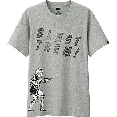 Mens Star Wars Graphic Tee, GRAY, medium