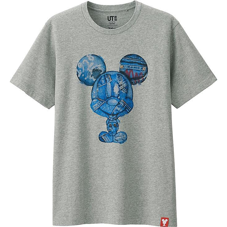 MEN MICKEY 100 SHORT SLEEVE GRAPHIC T-SHIRT, GRAY, large