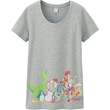 Womens UTGP Pixar Graphic Tee, GRAY, medium
