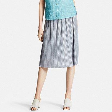 Womens Pleated Skirt, GRAY, medium