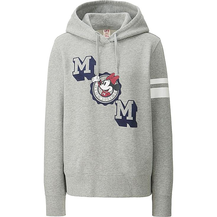 WOMEN DISNEY SWEAT PULLOVER HOODIE, GRAY, large