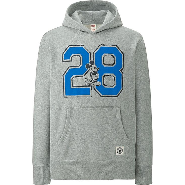 MEN DISNEY COLLECTION SWEAT PULLOVER HOODLIE, GRAY, large