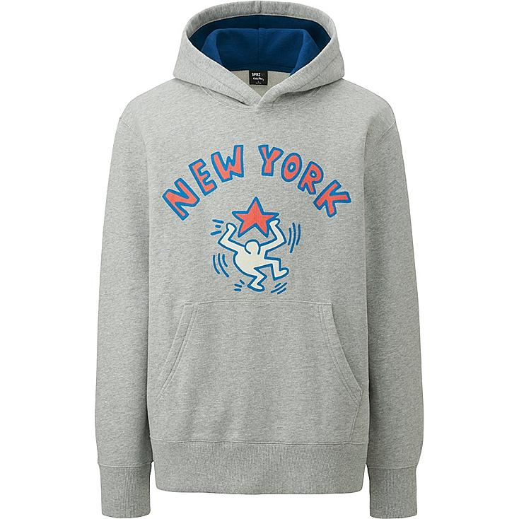 MEN SPRZ NY SWEAT PULLOVER HOODIE, GRAY, large
