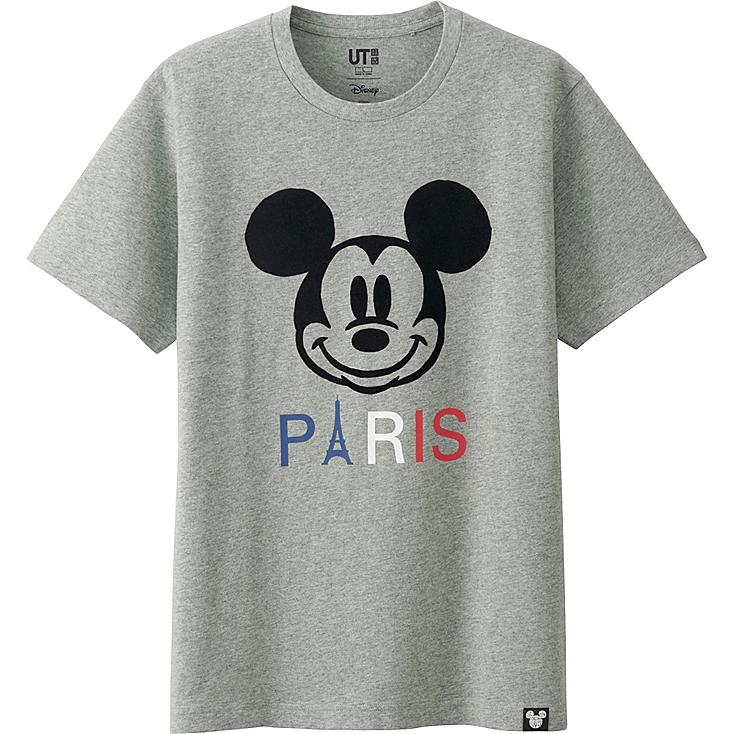 MEN DISNEY COLLECTION CITY LOGO GRAPHIC T-SHIRT, GRAY, large