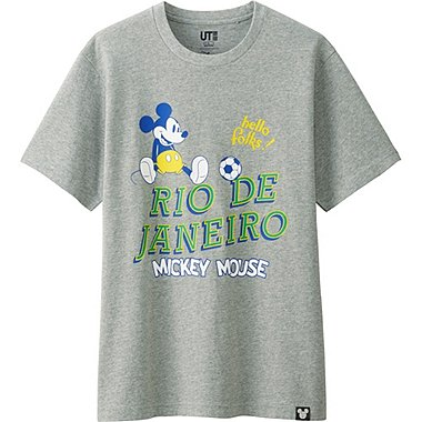 MEN DISNEY COLLECTION CITY LOGO GRAPHIC T-SHIRT, GRAY, medium
