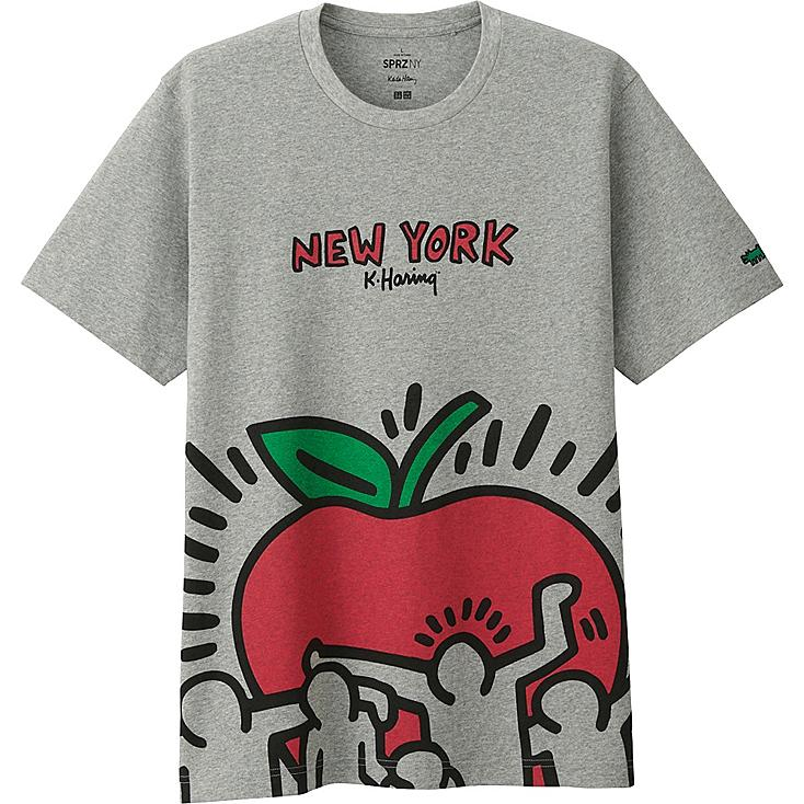 MEN SPRZ NY SHORT SLEEVE GRAPHIC T-SHIRT (KEITH HARING), GRAY, large