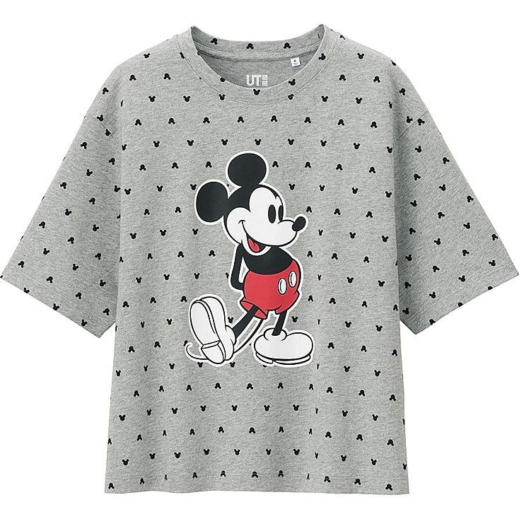 WOMEN DISNEY PROJECT SHORT SLEEVE GRAPHIC T-SHIRT, GRAY, large