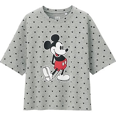 WOMEN DISNEY PROJECT SHORT SLEEVE GRAPHIC T-SHIRT, GRAY, medium