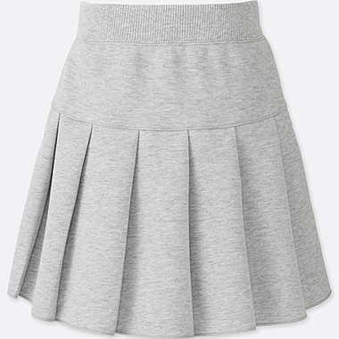GIRLS DRY SWEAT TUCK SKIRT, GRAY, medium