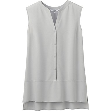 DAMEN Easy Care Bluse Ärmellos Aus Silk Touch