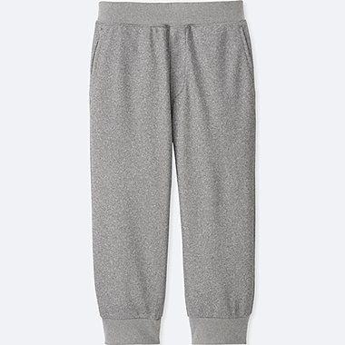 KIDS DRY EX CROPPED PANTS, GRAY, medium