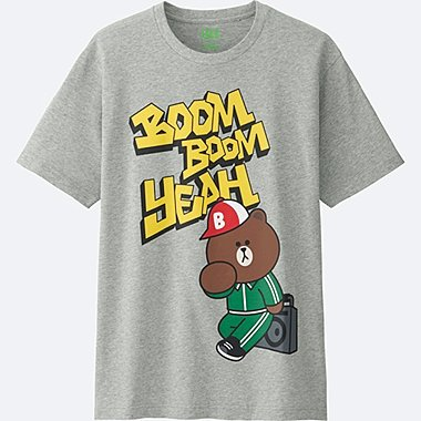 MEN LINE FRIENDS SHORT-SLEEVE GRAPHIC T-SHIRT, GRAY, medium