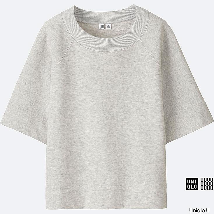 WOMEN Uniqlo U Light Sweat Half Sleeve T-Shirt