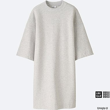 WOMEN Uniqlo U Oversized Light Sweat 3/4 Sleeve Tunic