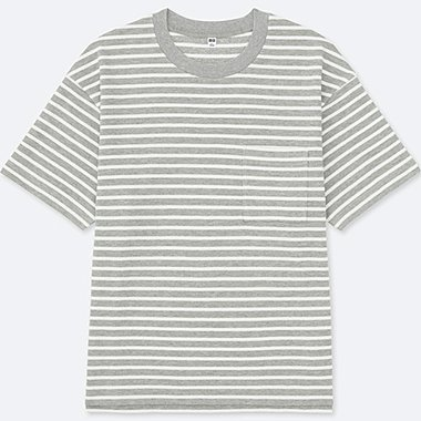 MEN Oversized Short Sleeve Striped T-Shirt