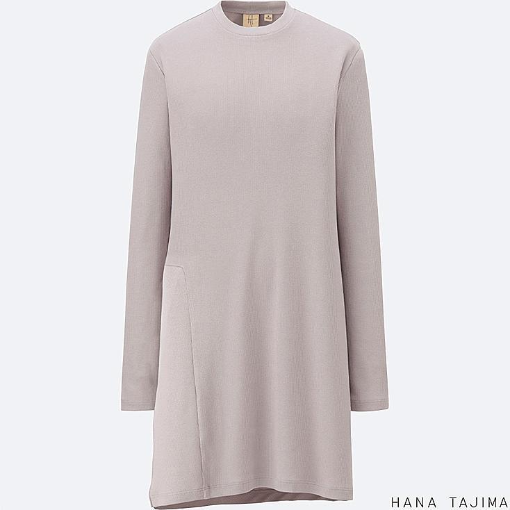 WOMEN Hana Tajima Ribbed Crew Neck Long Sleeve Tunic