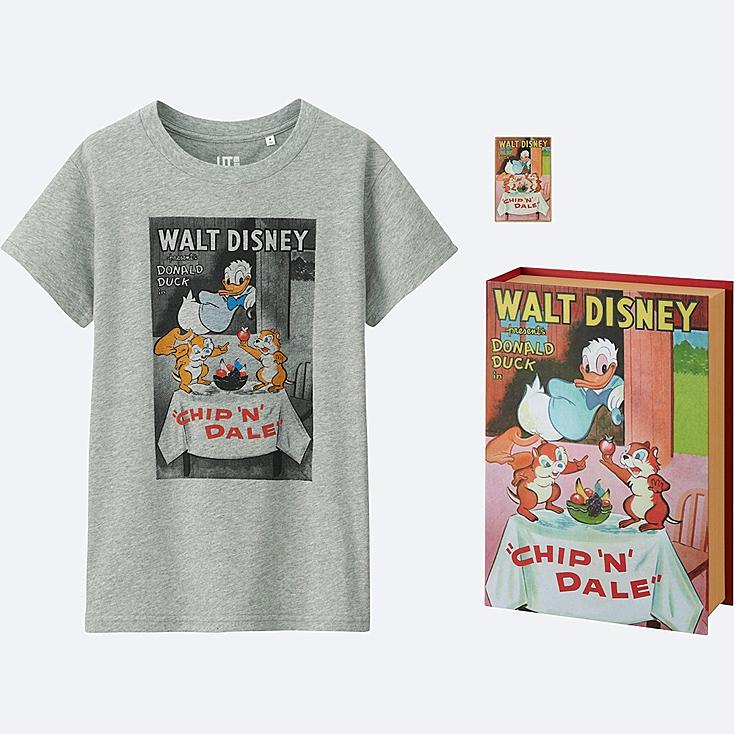 WOMEN DISNEY COLLECTION GRAPHIC SHORT SLEEVE T, GRAY, large