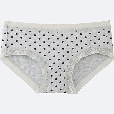 WOMEN HIPHUGGER (DOT), GRAY, medium