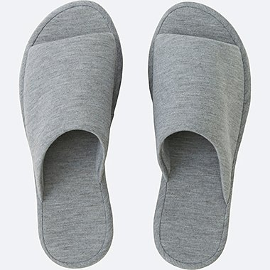 ROOM SHOES (PIQUE), GRAY, medium