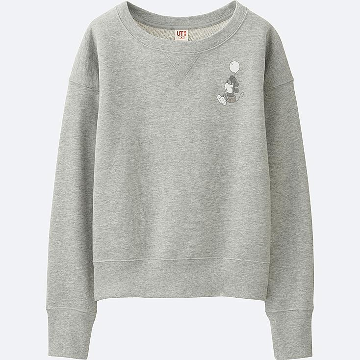 WOMEN DISNEY COLLECTION SWEATSHIRT, GRAY, large