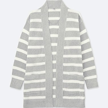 WOMEN Fluffy Yarn Lounge Long Sleeve Cardigan