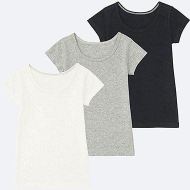 BABIES TODDLER Cotton Inner Short Sleeve T Shirt 3 Pack