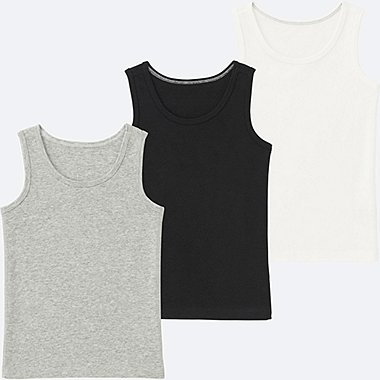 BABIES TODDLER Cotton Inner Tank Top 3 Pack