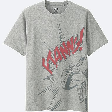 MEN MARVEL COLLECTION SHORT SLEEVE GRAPHIC T-SHIRT, GRAY, medium