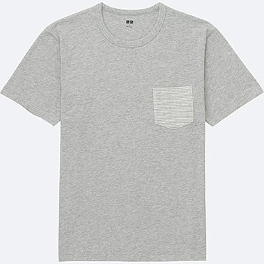 MEN Washed Slub Short Sleeve Crew Neck T-Shirt